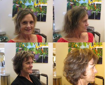 Short Haircut Before and After
